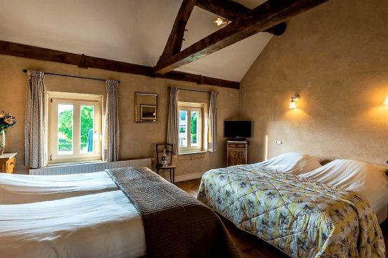 Vakantiehuis de Flab-Villapparte-Smockelaer-Monumentale en luxe vakantiehuis_12 personen_slaapkamer met 4 slaapplaatsen