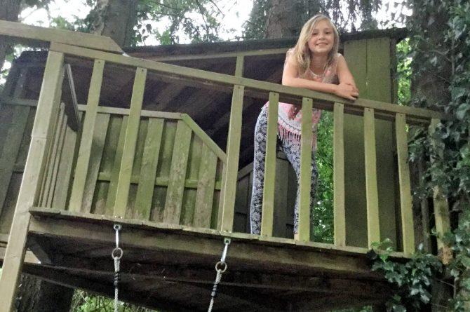 Vakantiehuis de Bosbries-Villapparte-luxe vakantiebungalow-Drenthe-voor 5 personen-boomhut in de tuin