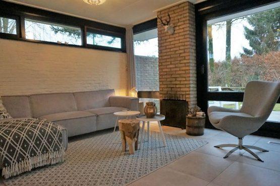 Vakantiehuis de Bosbries-Villapparte-luxe vakantiebungalow-Drenthe-voor 5 personen-knusse zithoek