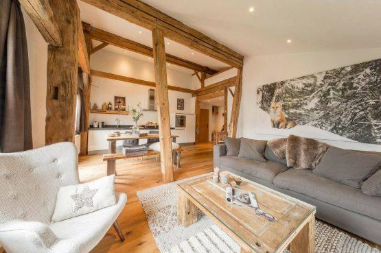 Villapparte_Bauernlodge_luxe appartementen_Oostenrijk_woonkamer_Gaigtspitze