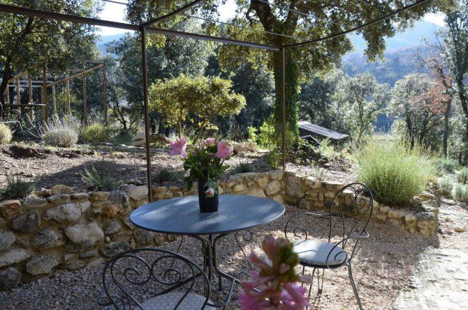 Villapparte_Les Oliviers du Taulisson_unieke Chambres d'Hôtes bij de Mont Ventoux-picholine terras