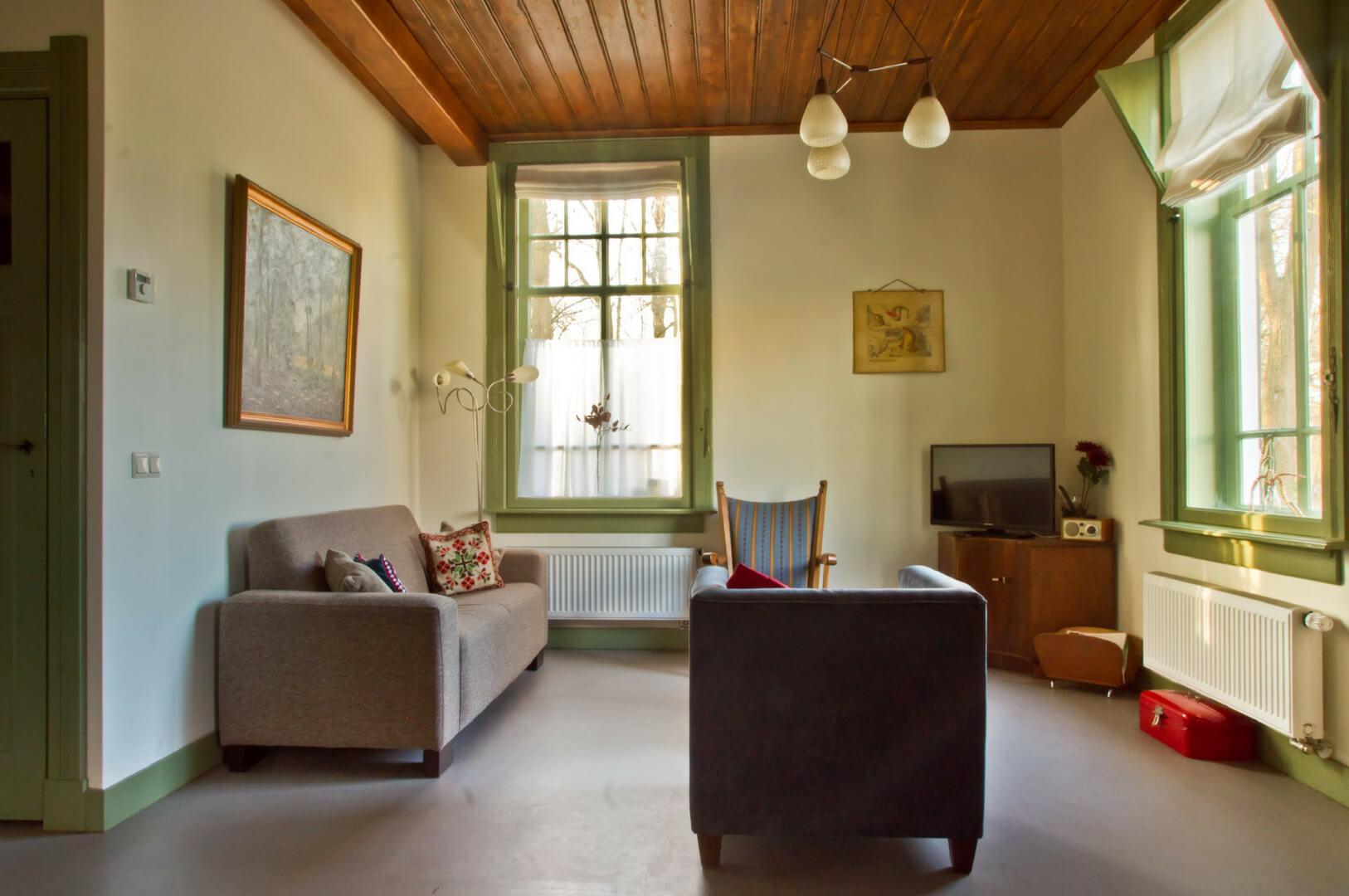 Moderne Traditionele Woonkamer : De oude zondagschool i ein romantisches ferienhaus 7 p in der natur