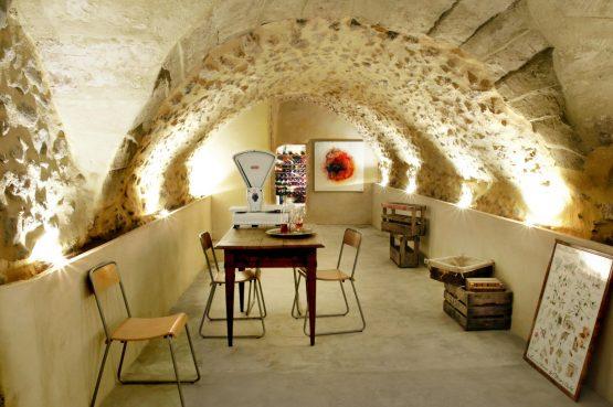 Maison de Maître Des-Sens-Villapparte-luxe en authentieke vakantieappartementen met zwembad-Drôme-Provence-Cave