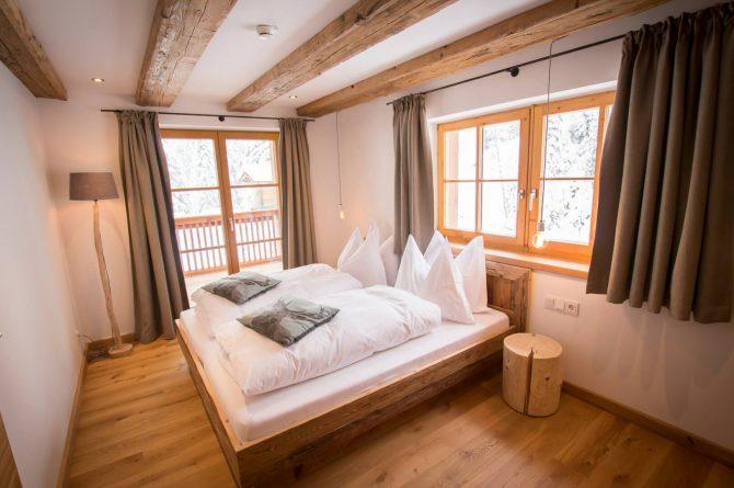MandlWand Lodge - Villapparte - 9 luxe appartementen met Sauna Welness - Salzburgerland - Oostenrijk - slaapkamer