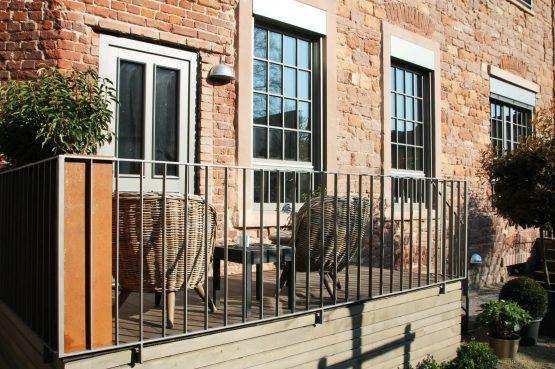 The Backyard-Villapparte-exclusieve design appartementen- 2 personen-Trier-Duitsland-terras