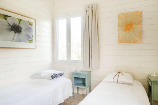 Vakantiehuis Les Terrasses_Villapparte_luxe vakantiehuis voor 8 personen_Lot et Garonne_verwarmd zwembad_slaapkamer met eenpersoonsbedden