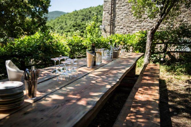 Boutique hotel Novanta-Villapparte-Italië-Toscane-authentiek en traditioneel belevingshotel-romantische eettafel