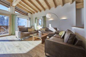 Villapparte-Belvilla-Künstler Chalet-luxe chalet voor 10 personen in Saalbach Hinterglemm-Oostenrijk-woonkamer