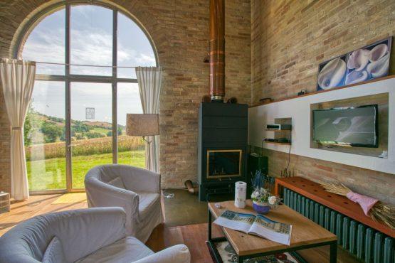 Villapparte-Belvilla-Vakantie Casa Strappa Le Marche in Italië-vakantiehuis voor 2 personen-knusse woonkamer