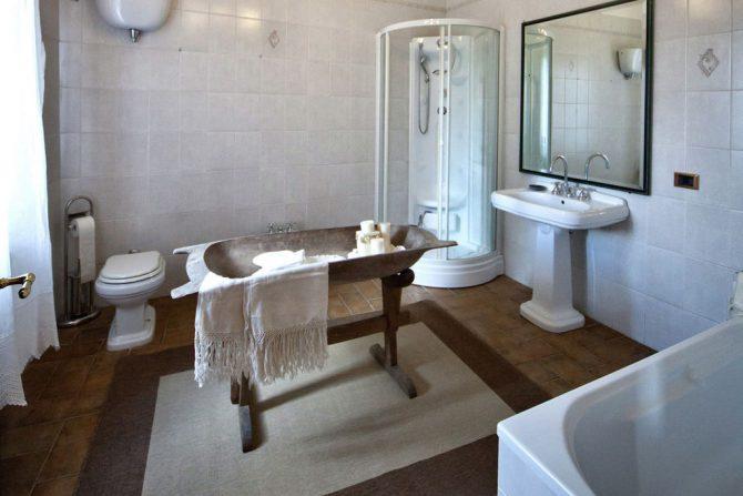 Villapparte-Belvilla-Vakantiehuis Casa Bevagna Umbrië Italië-vakantiehuis voor 5 personen-complete badkamer