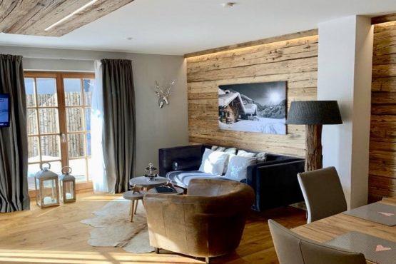 Villapparte-Belvilla-Appartement Panorama Chalet 7-Luxe appartement voor 4 personen in Mittersill-Oostenrijk-knusse woonkamer