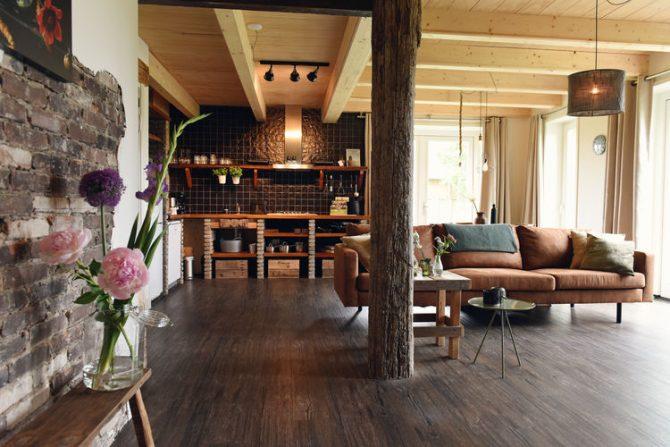 Villapparte-Belvilla-Appartement de Vossehoeck 3-Vakantieappartement voor 6 personen in Callantsoog-Noord-Holland-robuuste woonkamer met keuken