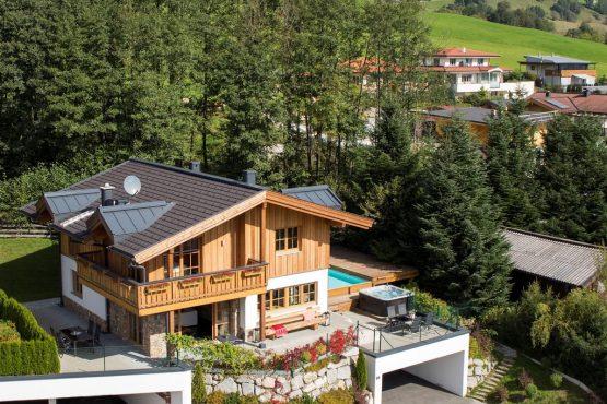 Villapparte-Belvilla-Chalet Erlebnishaus-luxe chalet voor 16 personen in Walchen-Oostenrijk-zomer