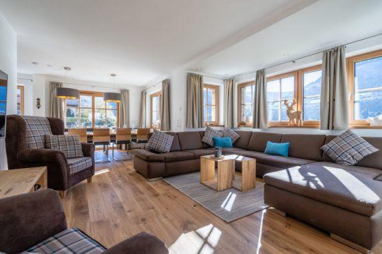Villapparte-Belvilla-Chalet Mariland-luxe vakantiechalet voor 10 personen-Bad Hofgastein-Oostenrijk-lichte woonkamer