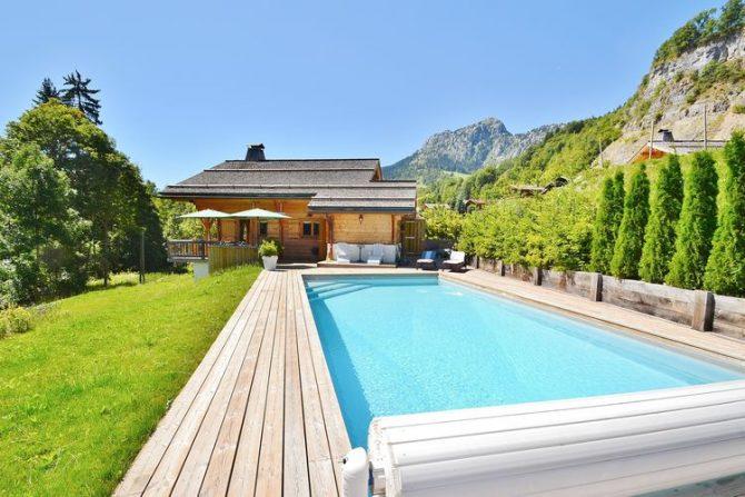Villapparte-Belvilla-Chalet le Chevreuil Franse alpen-luxe chalet met zwembad voor 12 personen