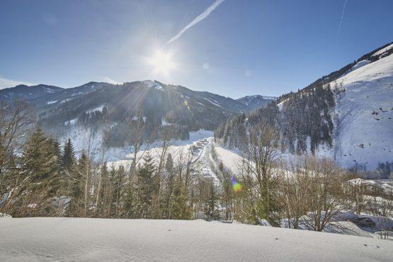 Villapparte-Belvilla-Künstler Chalet-luxe chalet voor 10 personen in Saalbach Hinterglemm-Oostenrijk-winter uitzicht