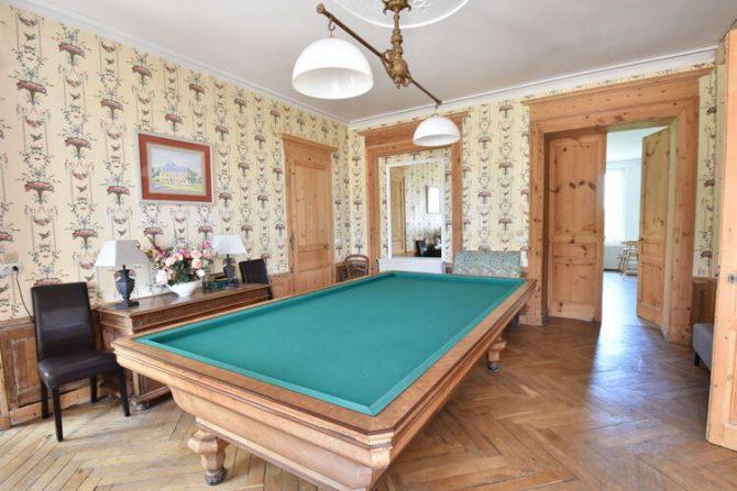 Villapparte-Belvilla- Kasteel Chateau in Asnières - Normandië-vakantiehuis voor 19 personen-authentiek kasteel-biljartkamer