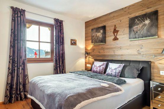 Villapparte-Belvilla-Panorama Chalet 10-Luxe chalet voor 6 personen in Mittersill-Oostenrijk-knusse slaapkamer