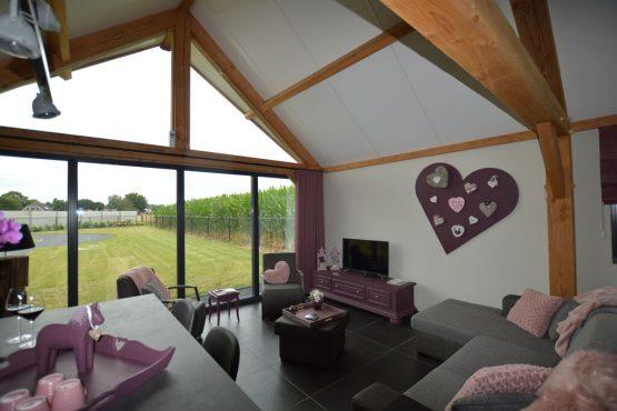 Villapparte-Belvilla-Vakantiehuis Droomeind Villa Amore-romantisch vakantiehuis voor 4 personen op klein parkje-Alphen-Noord Brabant-knusse woonkamer