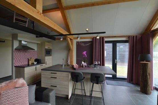 Villapparte-Belvilla-Vakantiehuis Droomeind Villa Amore-romantisch vakantiehuis voor 4 personen op klein parkje-Alphen-Noord Brabant-luxe keuken