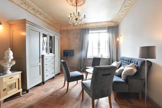 Villapparte-Belvilla-Vakantiehuis Langut Detershagen IX in Detershagen-luxe vakantiehuis voor 18 personen-Duitsland-gezellige zithoek