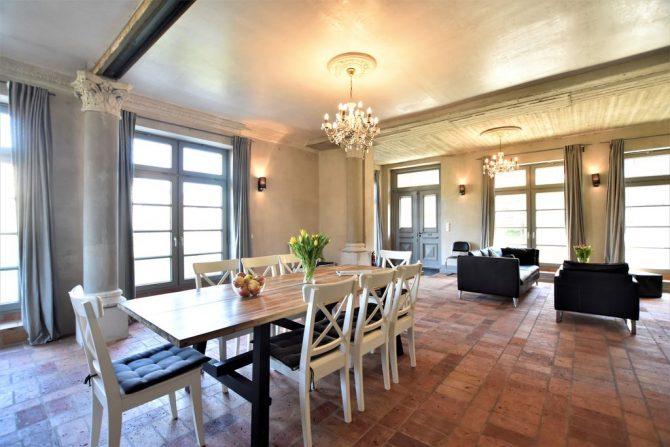Villapparte-Belvilla-Vakantiehuis Langut Detershagen IX in Detershagen-luxe vakantiehuis voor 18 personen-Duitsland-romantische eethoek