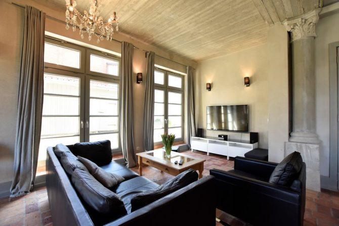 Villapparte-Belvilla-Vakantiehuis Langut Detershagen IX in Detershagen-luxe vakantiehuis voor 18 personen-Duitsland-strakke zithoek
