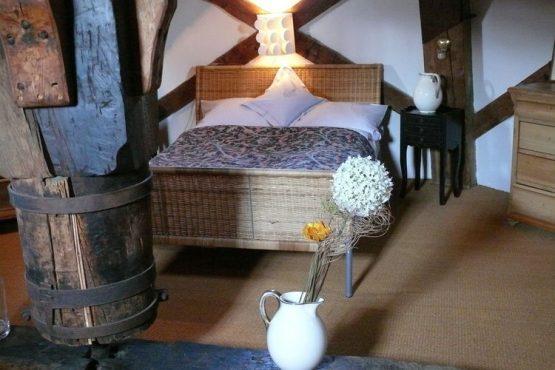 Villapparte-Belvilla-Vakantiehuis Mühle mit Charme in Wangels-luxe vakantiehuis voor 6 personen-Duitsland-romantische slaapkamer