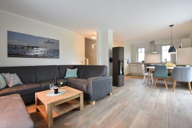 Villapparte-Belvilla-Vakantiehuis Strandhafer XI in Rerik-luxe vakantiehuis voor 11 personen-Duitsland-gezellige woonkamer