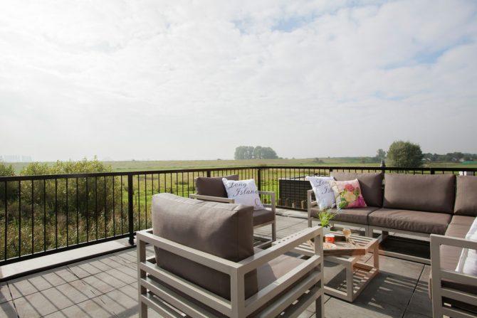 Villapparte-Belvilla-Vakantiehuis luxe Beveland-luxe vakantiehuis voor 12 personen-Colijnsplaat-Zeeland-terras met uitzicht