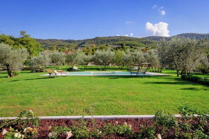 Villapparte-Belvilla-Villa America Toscane Italië-luxe vakantiehuis voor 6 personen-tuin
