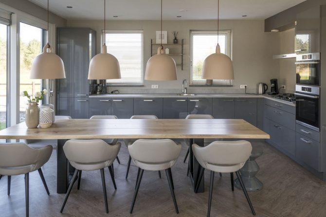 Villapparte-Belvilla-Villa Bouwlust-luxe vakantievilla voor 8 personen-De Cocksdorp-Texel-moderne woonkeuken
