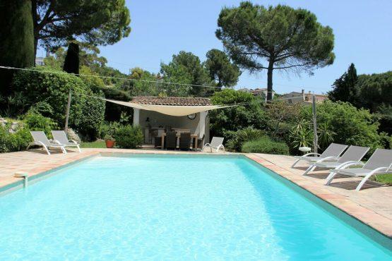 Villapparte-Belvilla-Villa La Salamandre Côte d'Azur-luxe vakantiehuis voor 10 personen met zwembad-met overdekt terras