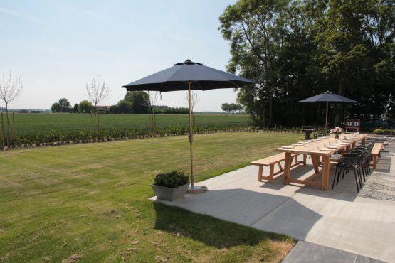 Villapparte-Belvilla-Villa Polderduin-Luxe vakantievilla voor 14 personen in Zuidzande-Zeeland-terras met uitzicht