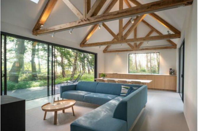 Villapparte-Natuurhuisje 45764-Moderne bosvilla in Tonden-10 personen-Gelderland-strakke woonkamer