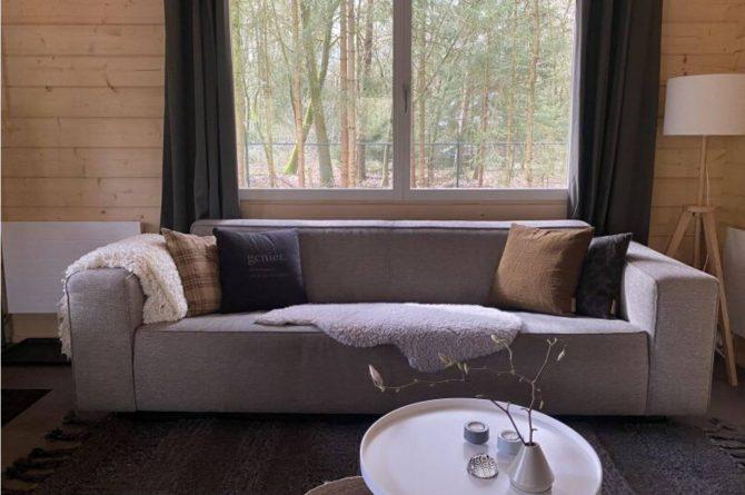 Villapparte-Scandinavische Chalet in Epe-Veluwe-luxe vakantiechalet voor 6 personen-Gelderland-bank