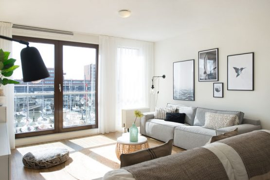 Villapparte-Belvilla-Appartement Scheveningen 60-luxe vakantieappartement voor 6 personen in Scheveningen-Zuid-Holland-lichte zithoek