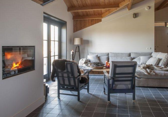 Villapparte-Natuurhuisje 31915-Vakantiehuis De Maasduinen in Afferden-Limburg-voor 6 personen-romantische woonkamer