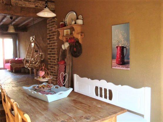 Villapparte-Natuurhuisje 31983-Vakantiehuis de Vakwerkhoeve-8 personen-Epen-gezellige eettafel