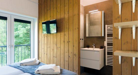 Villapparte-Duinlodge 6 Vlissingen-Roompot-Largo-Luxe vakantiehuis aan de duinen-6 personen-Vlissingen-Zeeland-slaapkamer met luxe badkamer