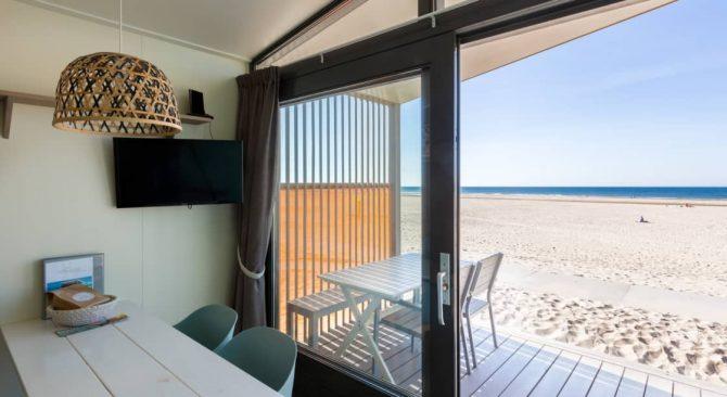 Villapparte-Kijkduin Strandhuisjes-4 personen-uniek strandhuisje op het strand-Zuid-Holland-Den Haag-uitzicht op strand