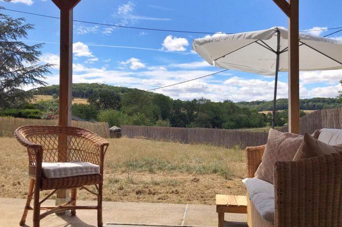 Villapparte-La Maison de Mar-romantisch vakantiehuisje voor 4 personen-Champagne streek-Frankrijk-terras met uitzicht