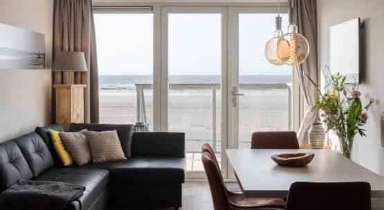Villapparte-Largo Beach Villa Hoek van Holland-villa op het strand voor 6 personen-Zuid-Holland-gezellige woonkamer