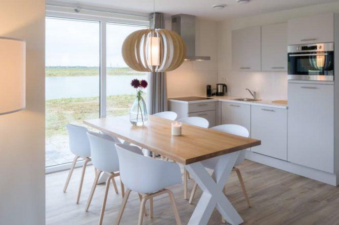 Villapparte-Largo Domein Het Camperveer-Watervilla Byron 6 luxe villa voor 6 personen-luxe keuken-Veerse Meer-Zeeland