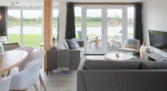 Villapparte-Watervilla Keats 8-Veerse Meer-Zeeland-luxe villa voor 8 personen-luxe woonkamer