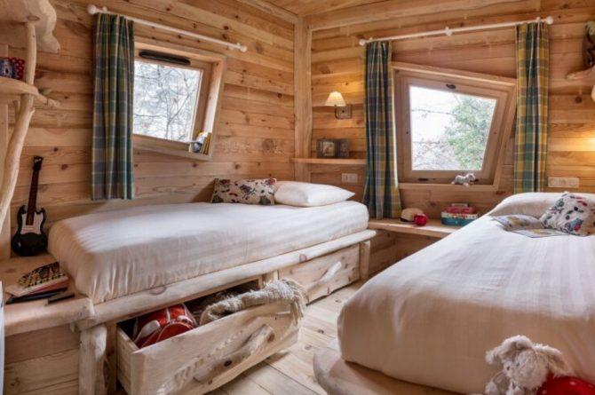 Villapparte-Center Parcs Bois aux Daims-Morton-Vienne-Frankrijk-Boomhuis voor 4 personen-kinder slaapkamer