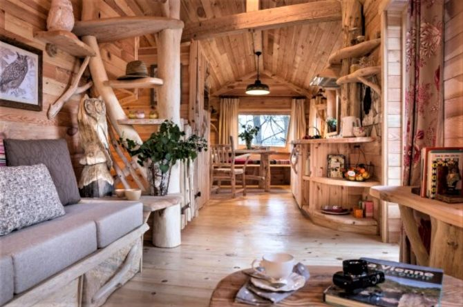 Villapparte-Center Parcs Bois aux Daims-Morton-Vienne-Frankrijk-Boomhuis voor 4 personen-sfeervolle woonkamer