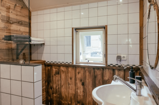 Villapparte-Natuurhuisje-Guesthouse Oldeberkoop-schattig guesthouse voor 2 personen-Oldeberkoop-Friesland-complete badkamer