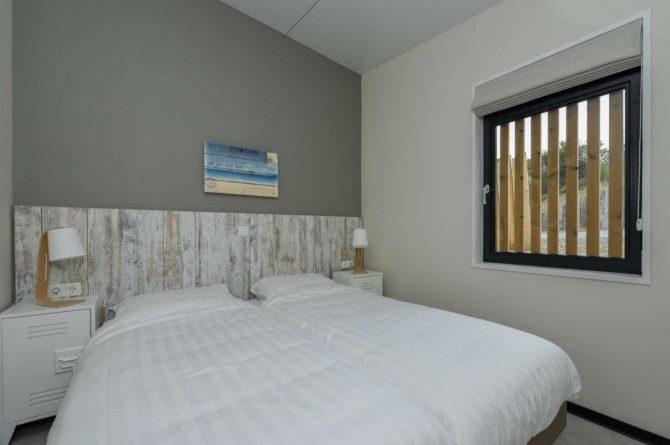 Villapparte-Qurios-Sea House Comfort-luxe lodge voor 4 personen-Bloemendaal aan zee-luxe slaapkamer