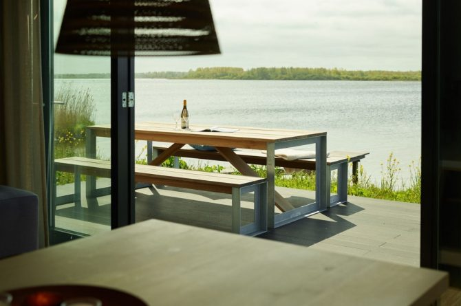 Villapparte-Baayvilla 12 Lauwersoog-Dutchen-Baayvilla's-Groningen-luxe vakantievilla voor 7 personen-aan het water-uitzicht Lauwersmeer